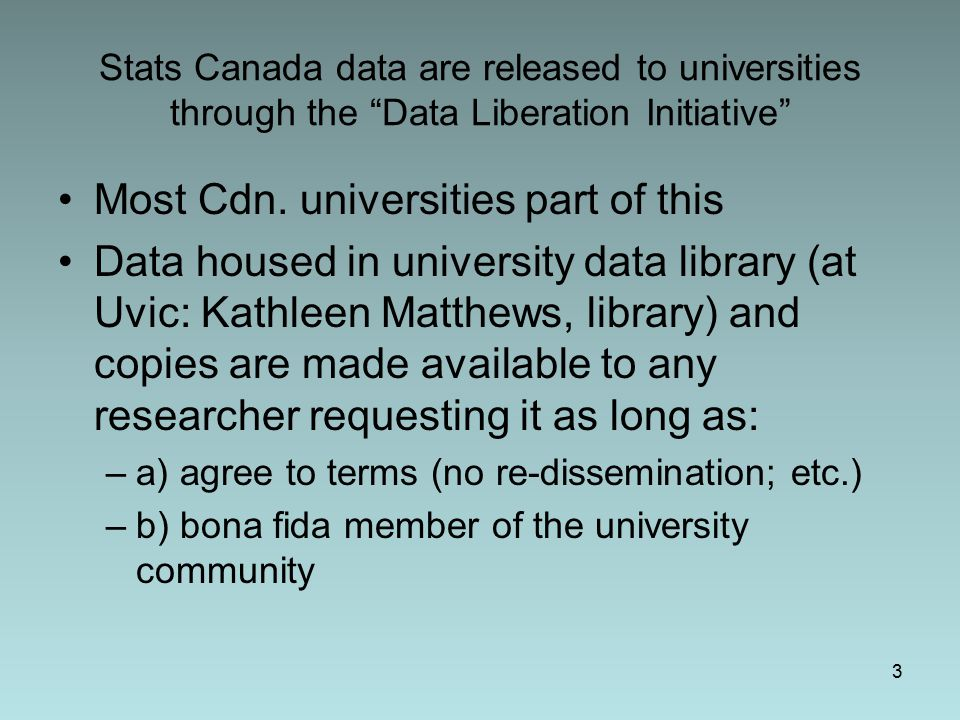 DLI Restrictions No longitudinal data (in some cases, cross-sectional waves, not linked and with unique identifiers stripped, are available, but in other cases survey not available at all) Many variables treated as confidential and deleted from dataset or coarsely categorized 4