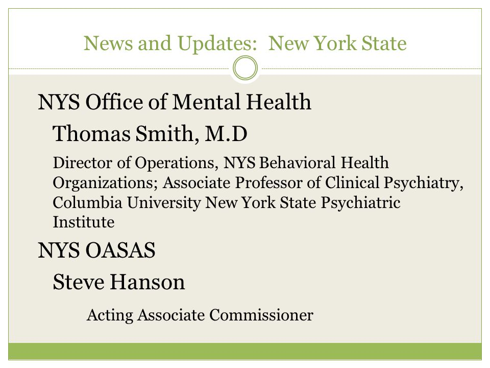 News and Updates: Western Region Behavioral Health Organization Activity of WRBHO – As of Week Eight Task 1- Volumes, outreach, getting the kinks out Task 2- SED Data submission webinars this week Task 3- First round to be ready by April 30 Task 4 – Meetings and conference calls Complementary work of NYCCP Health Homes BHO Phase 2