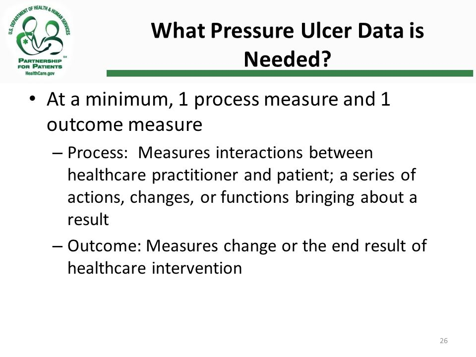 What Pressure Ulcer Data is Needed.