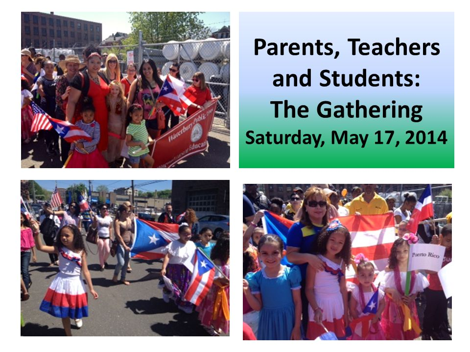 Parents, Teachers and Students: The Gathering Saturday, May 17, 2014