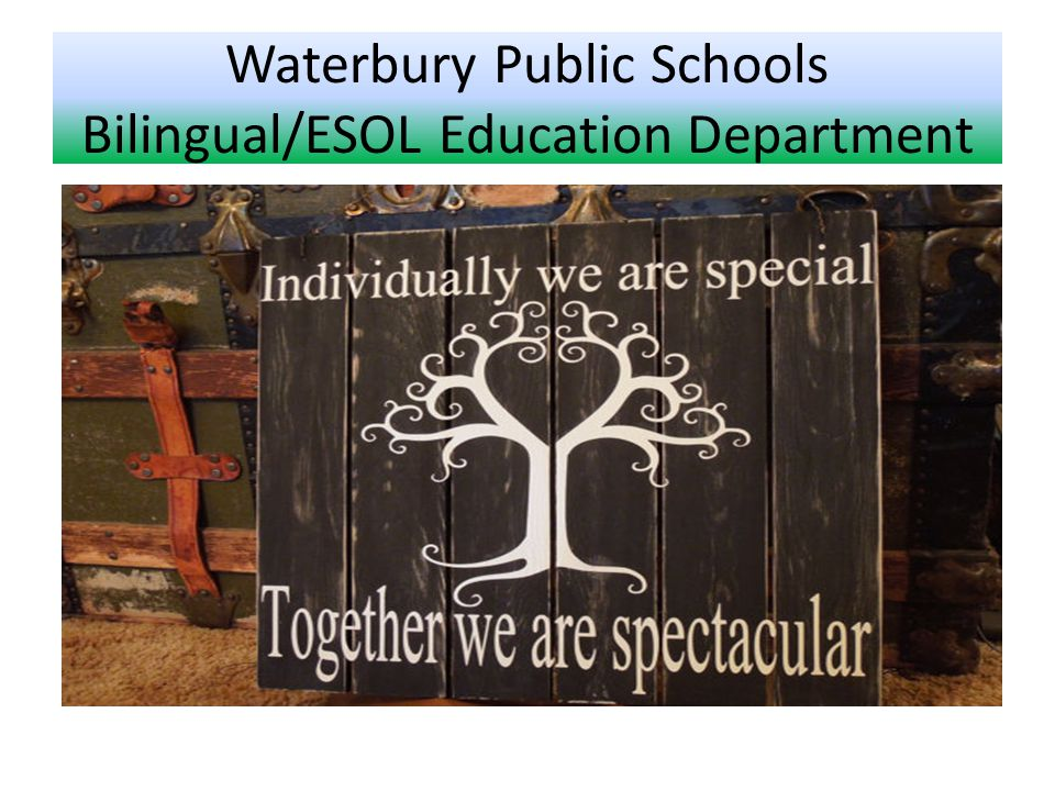 Waterbury Public Schools Bilingual/ESOL Education Department