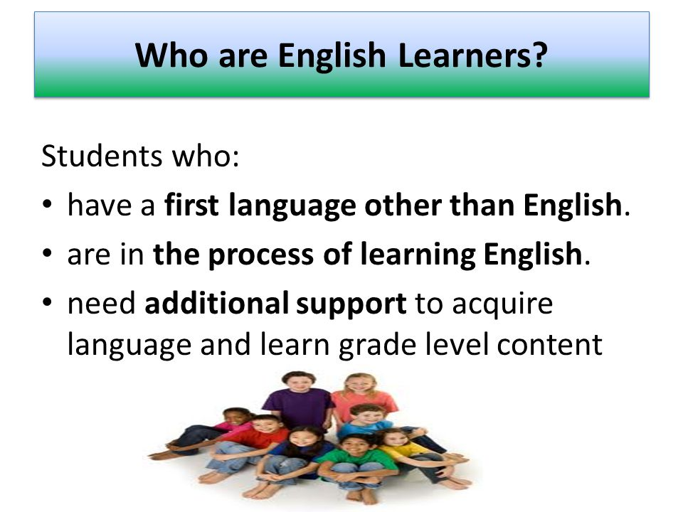 English Learners by Program LevelBILESLLEP REGLTSSGrand Total ES K-5356725451061232 MS 6-812120513130469 HS 9-129118324209507 Grand Total5681113824452208 (6/11/14) The Bilingual/ESOL Education Department serves over 2,000 students identified as English Learners.