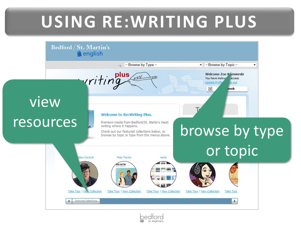 USING RE:WRITING PLUS view resources browse by type or topic