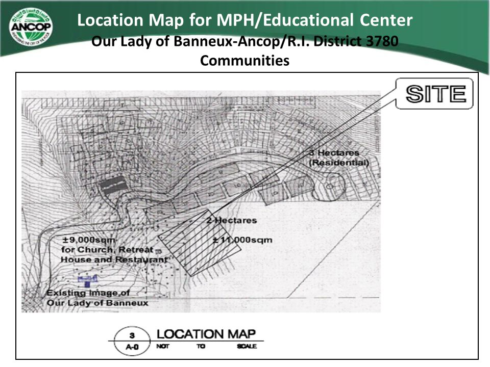 Location Map for MPH/Educational Center Our Lady of Banneux-Ancop/R.I. District 3780 Communities