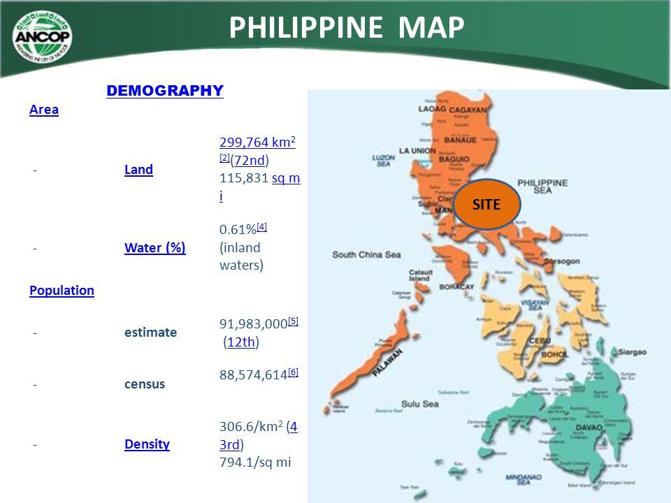 DEMOGRAPHY Area - Land 299,764 km 2 299,764 km 2 [2] (72nd) 115,831 sq m i [2]72ndsq m i - Water (%) 0.61% [4] (inland waters) [4] Population -estimat
