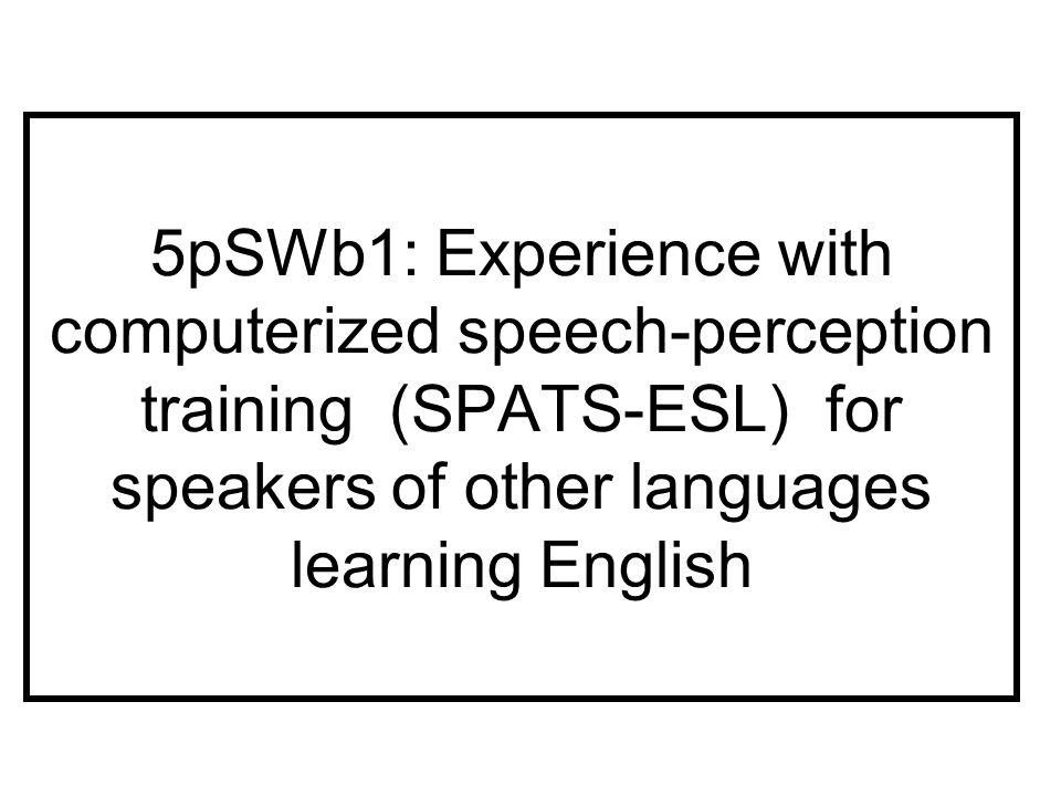 IEP Class Spring II 2008 SPATS Almost Default ESL Nucleus Seq.