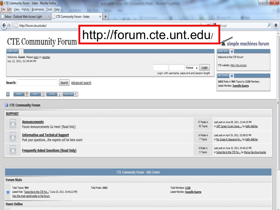Forum Copyright © Texas Education Agency. All rights reserved. http://forum.cte.unt.edu /