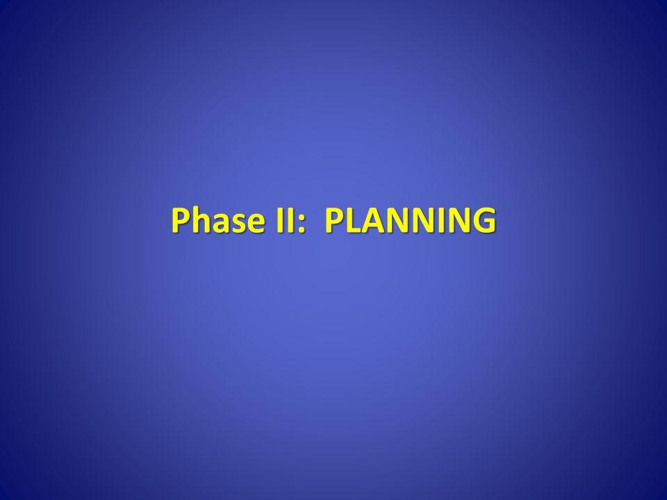 Phase II: PLANNING