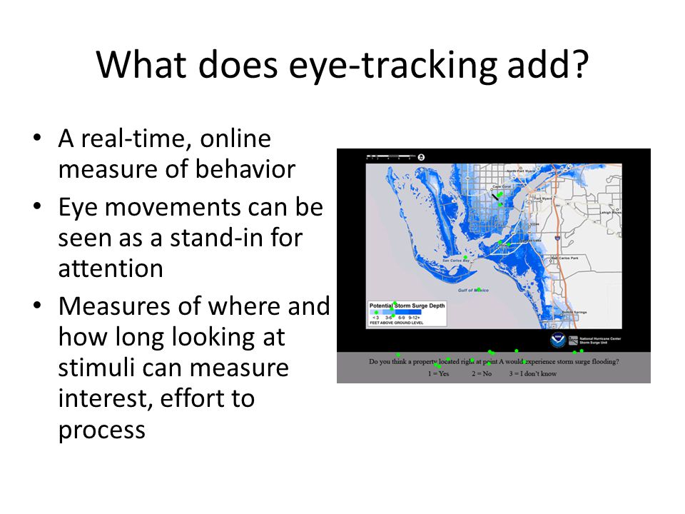 What does eye-tracking add.