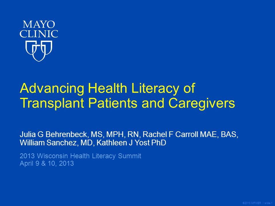 ©2013 MFMER | slide-12 Patient/Caregiver Assessment – Results Preliminary findings based on first ~20 dyads