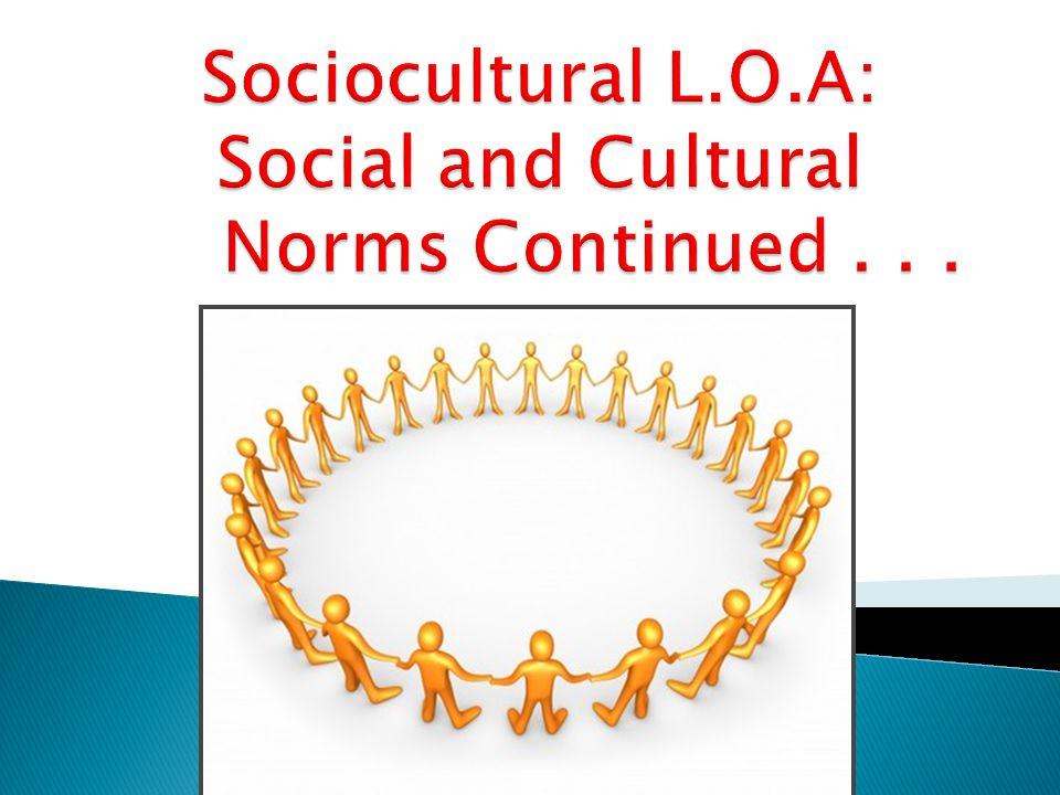 Socio-cultural Cognition (4.1) 1.