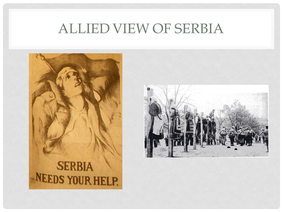 ALLIED VIEW OF SERBIA
