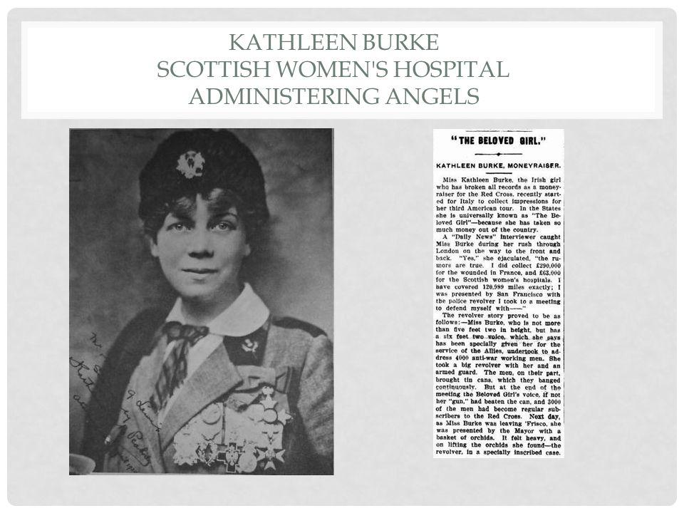 KATHLEEN BURKE SCOTTISH WOMEN'S HOSPITAL ADMINISTERING ANGELS