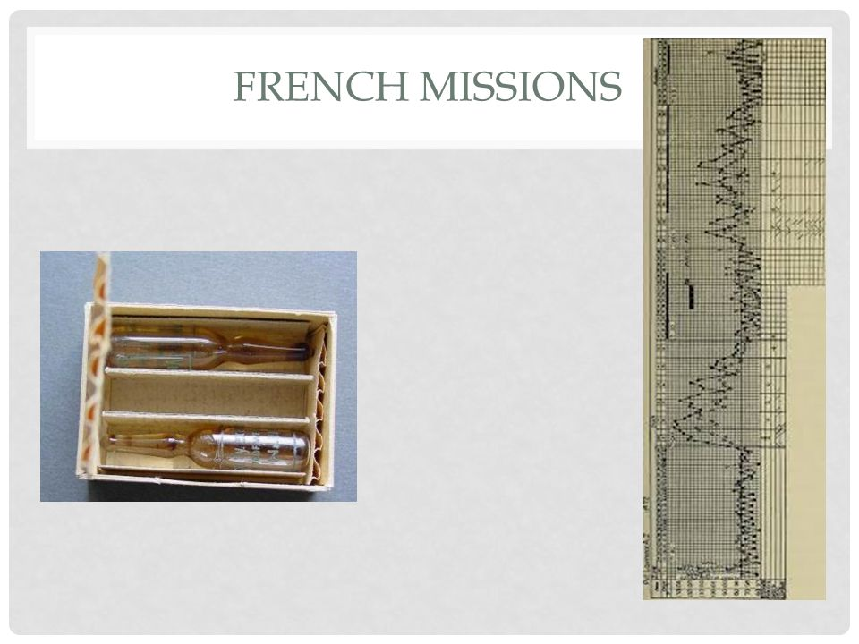 FRENCH MISSIONS