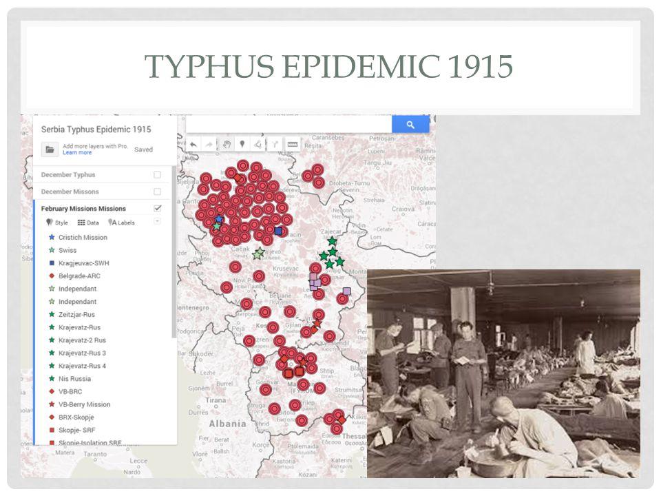 TYPHUS EPIDEMIC 1915