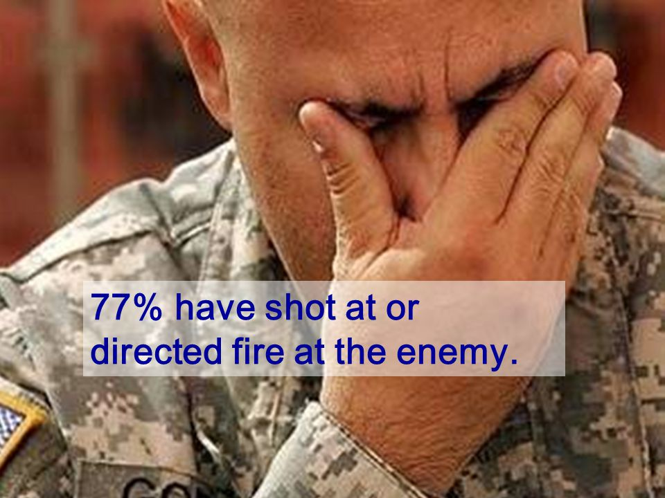 77% have shot at or directed fire at the enemy.