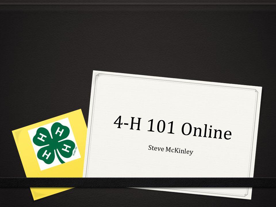 4-H 101 Online Steve McKinley