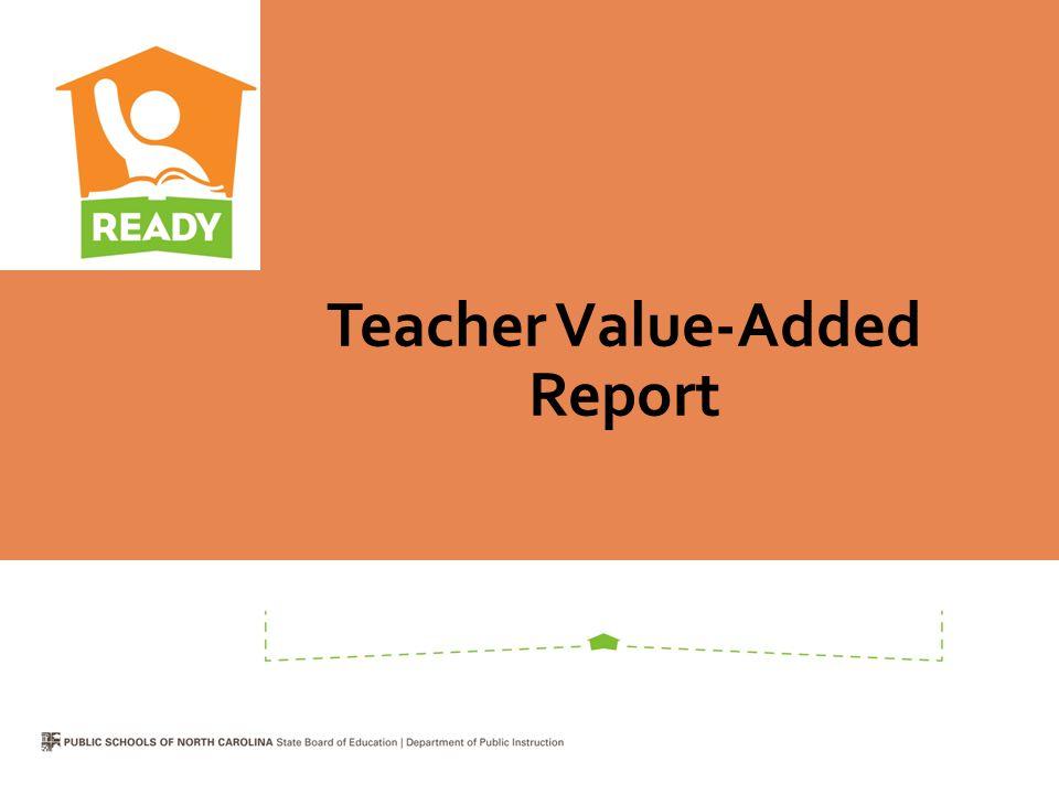 Teacher Value-Added Report