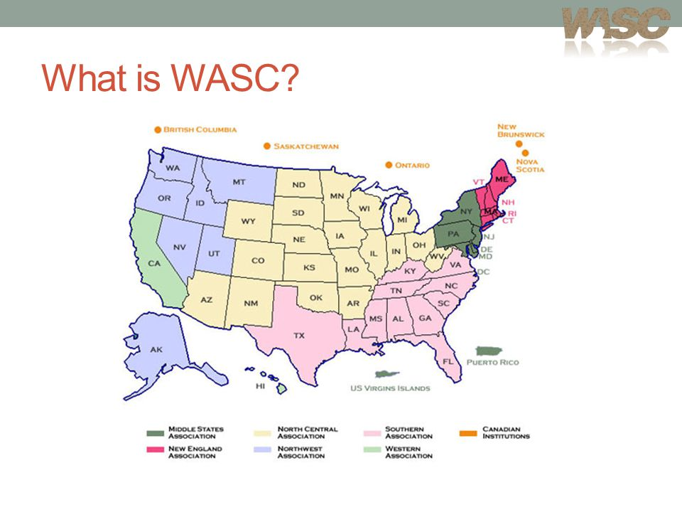 Why WASC Matters Provides assurance that an institution has demonstrated it meets the Core Commitments, Standards, and Criteria for Review Promotes deep institutional engagement with issues of educational effectiveness and student learning Leads to developing and sharing good practices in improving the teaching and learning process Promotes a culture of evidence where indicators of performance are regularly developed and used to inform decisions