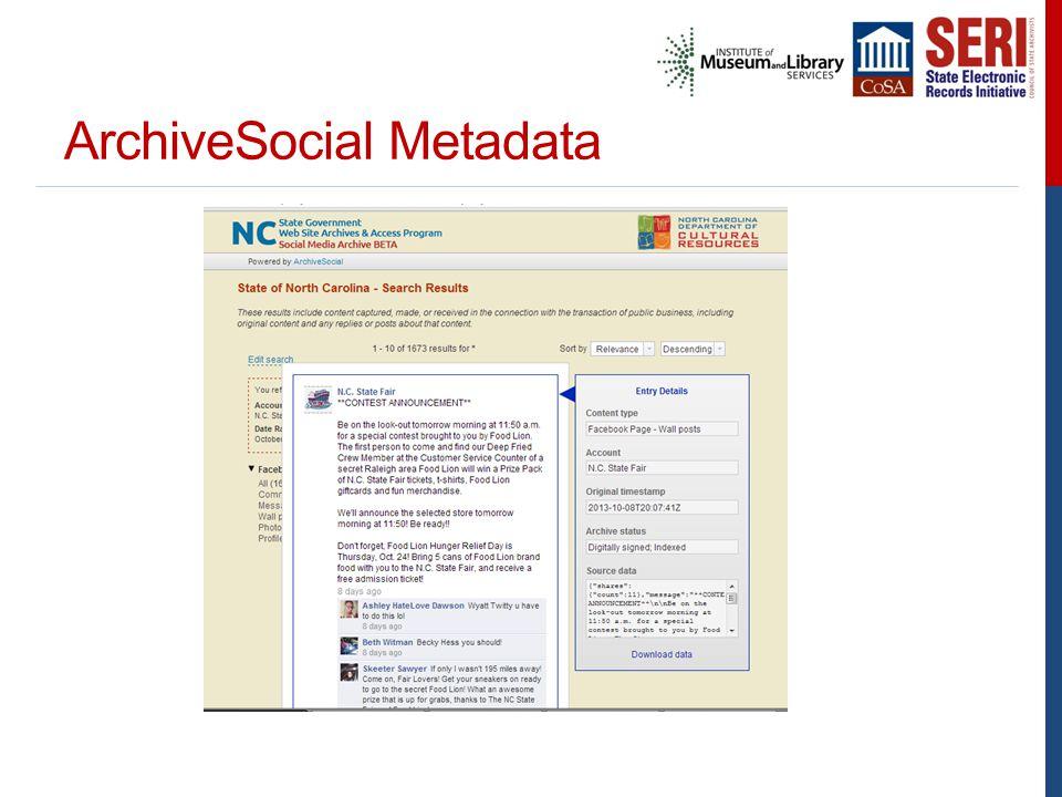 ArchiveSocial Metadata