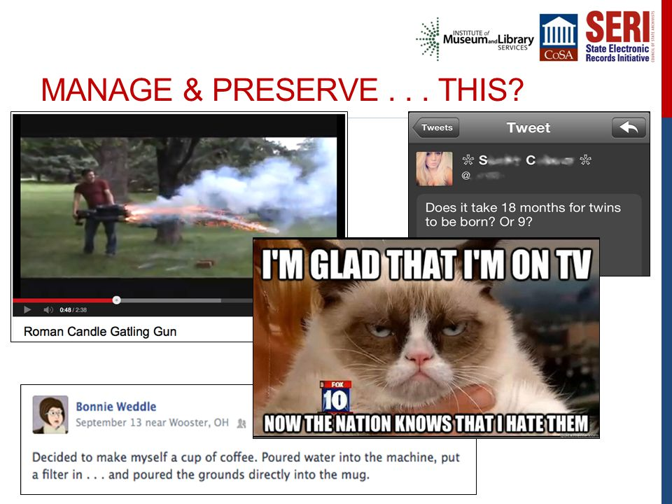 MANAGE & PRESERVE... THIS?