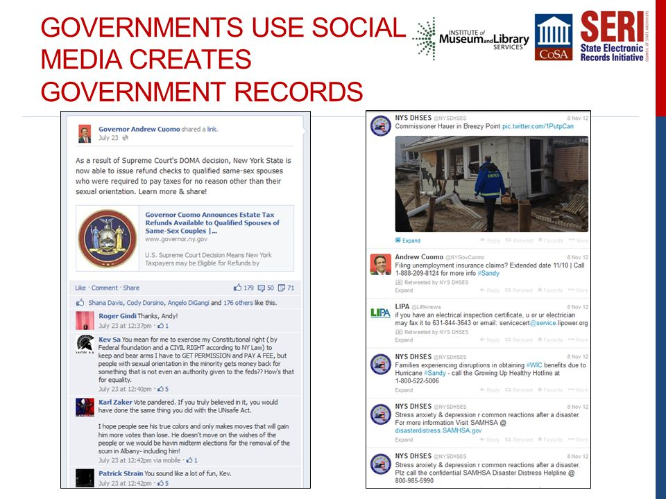GOVERNMENTS USE SOCIAL MEDIA CREATES GOVERNMENT RECORDS