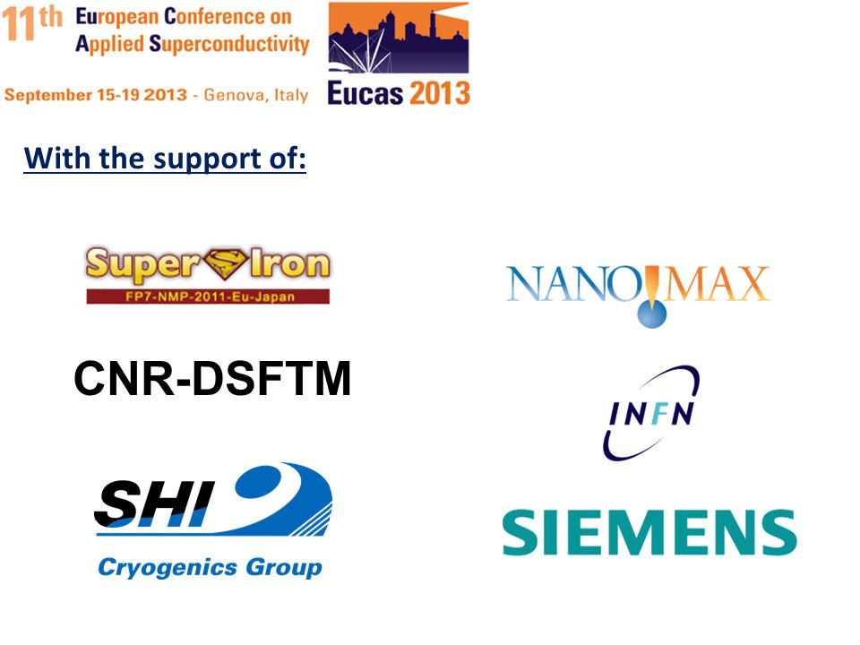 CNR-DSFTM With the support of: