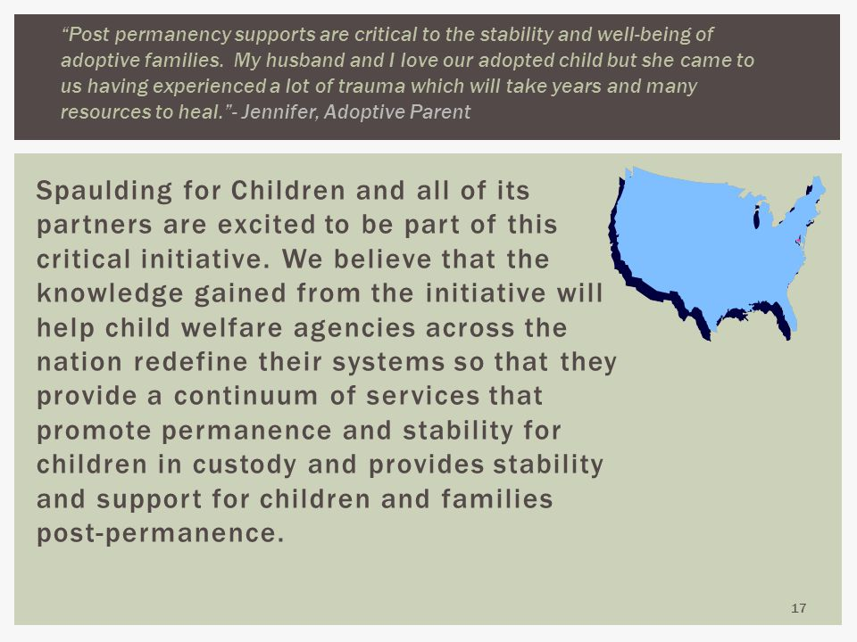 Spaulding for Children and all of its partners are excited to be part of this critical initiative.