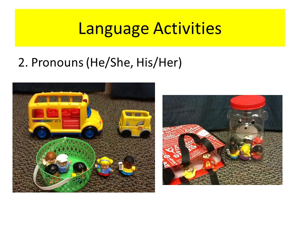 Language Activities 2. Pronouns (He/She, His/Her)