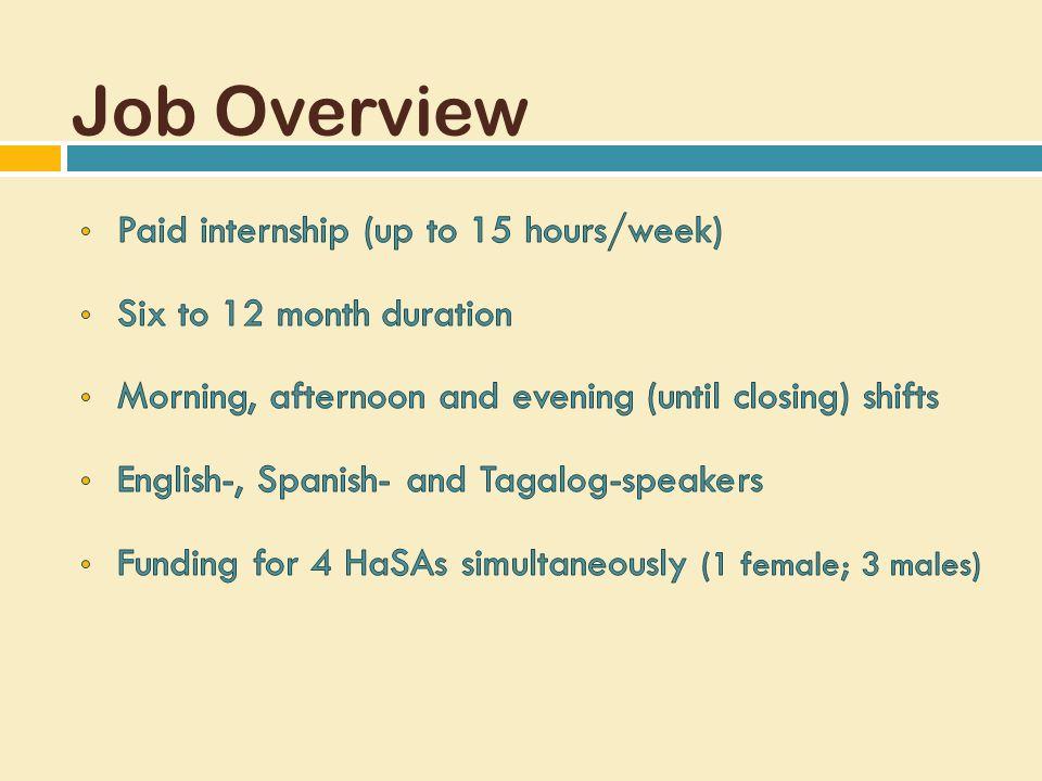 Job Overview