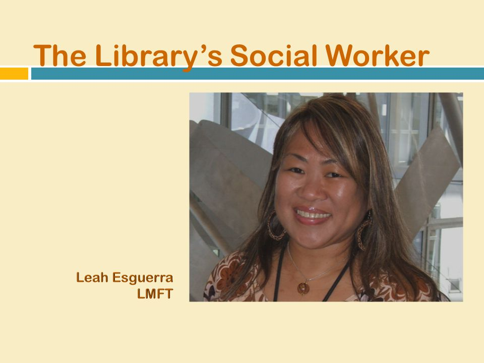 The Library's Social Worker