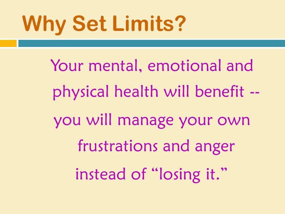 Why Set Limits.