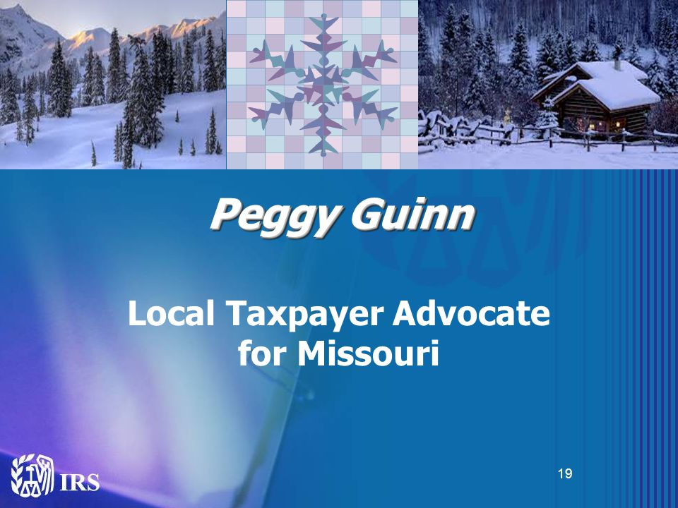 Peggy Guinn Local Taxpayer Advocate for Missouri 19
