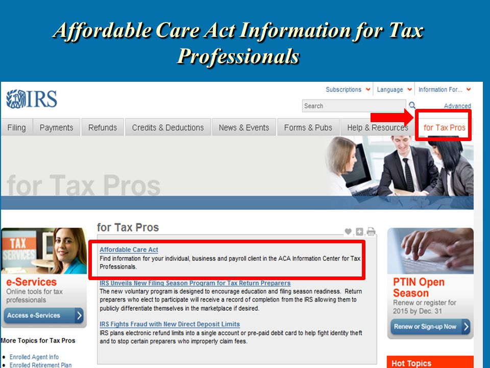 Affordable Care Act Information for Tax Professionals 21