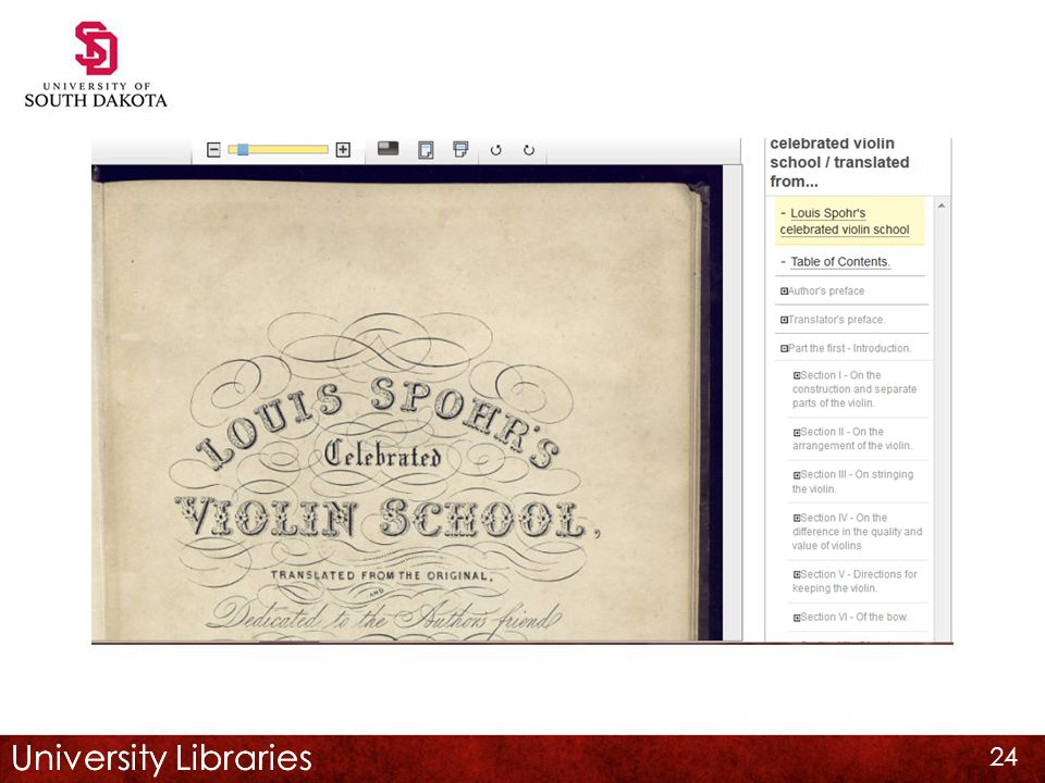 University Libraries 24