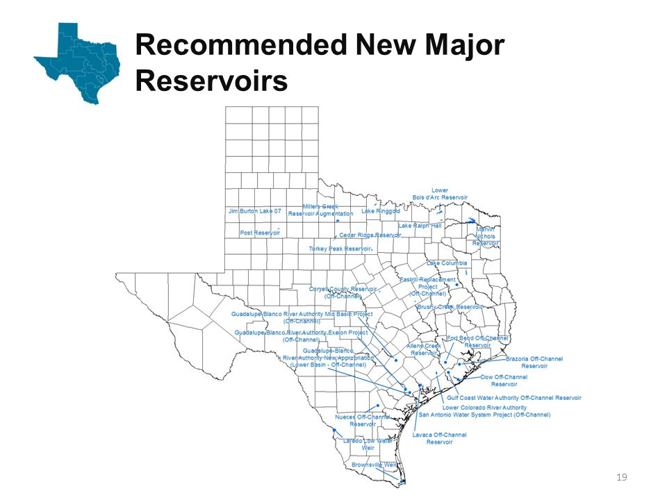 Recommended New Major Reservoirs 19
