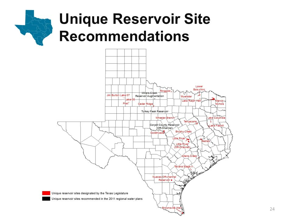 Unique Reservoir Site Recommendations 24
