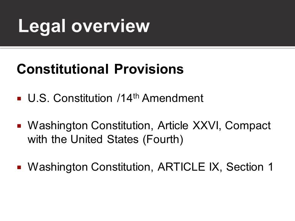 Constitutional Provisions  U.S.