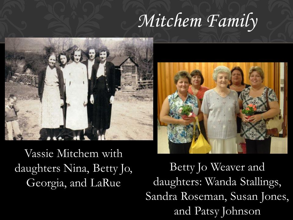 Seagle Family Betty Nail, mother of Dianne Dianne Nail Rosa Mae Seagle, mother of Betty Nail