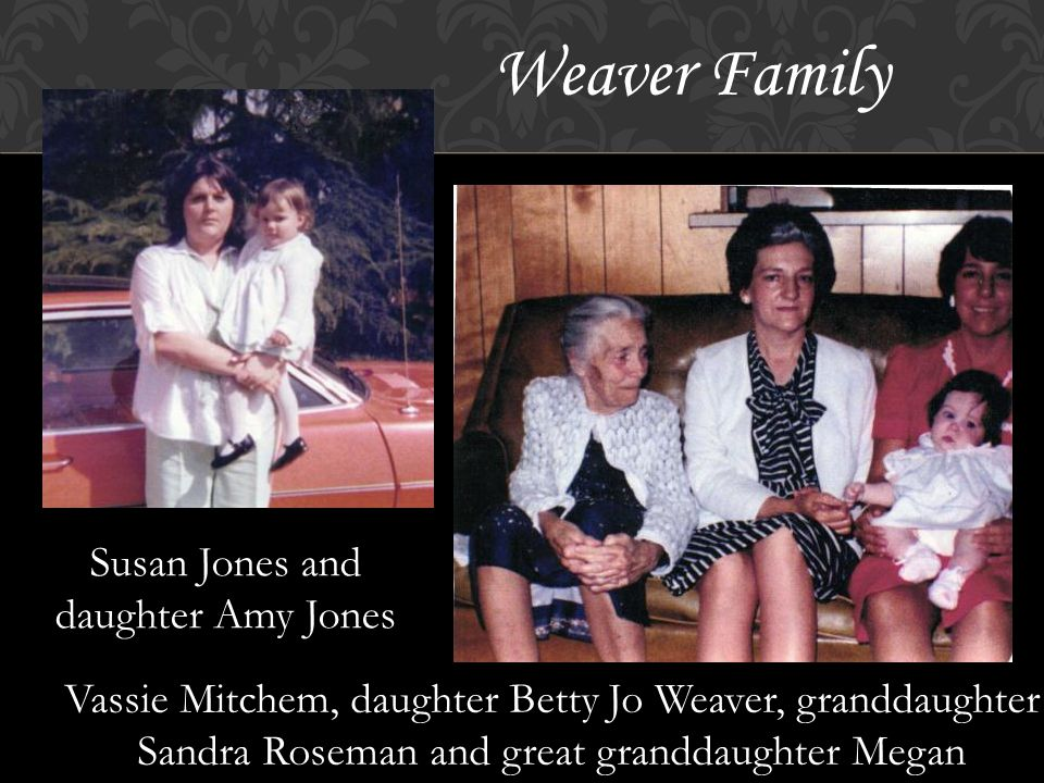 Johnson Family Patsy Johnson and mother Betty Jo Weaver Patsy Johnson and daughter Heather Carroll