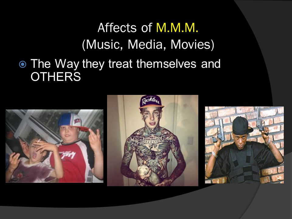 Affects of M.M.M. (Music, Media, Movies)  The Way they treat themselves and OTHERS