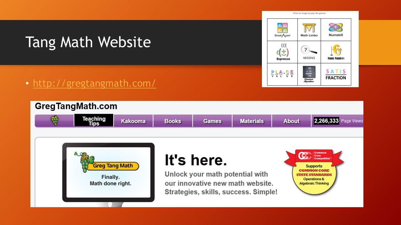 Tang Math Website http://gregtangmath.com/