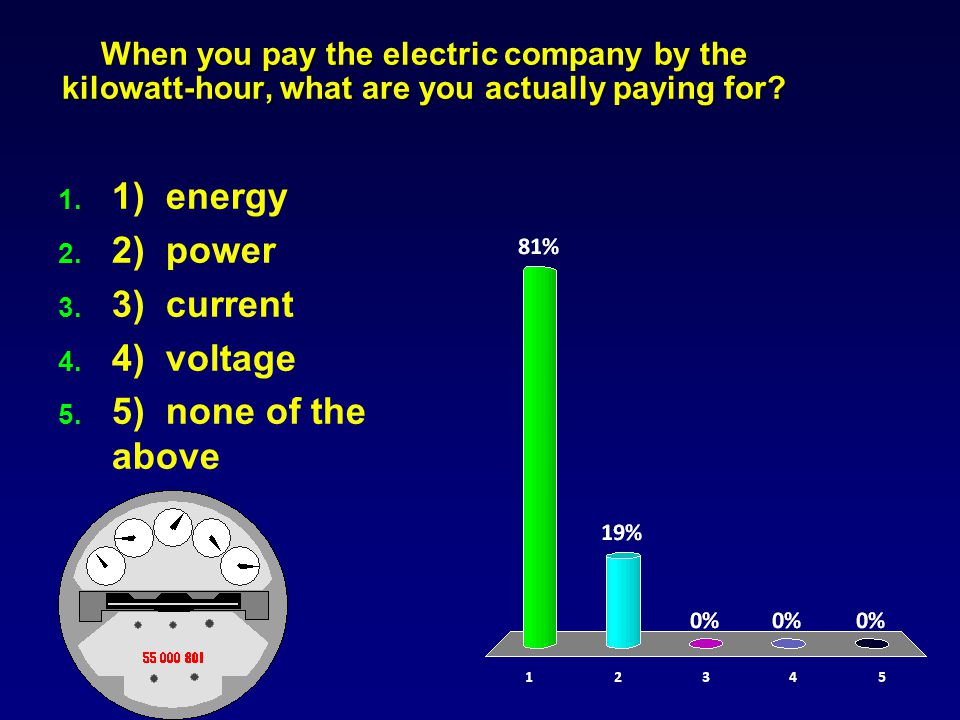 When you pay the electric company by the kilowatt-hour, what are you actually paying for.