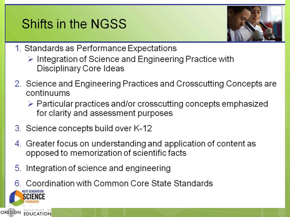Summary: Shifts in the Teaching and Learning of Science  Organize around limited number of core ideas.