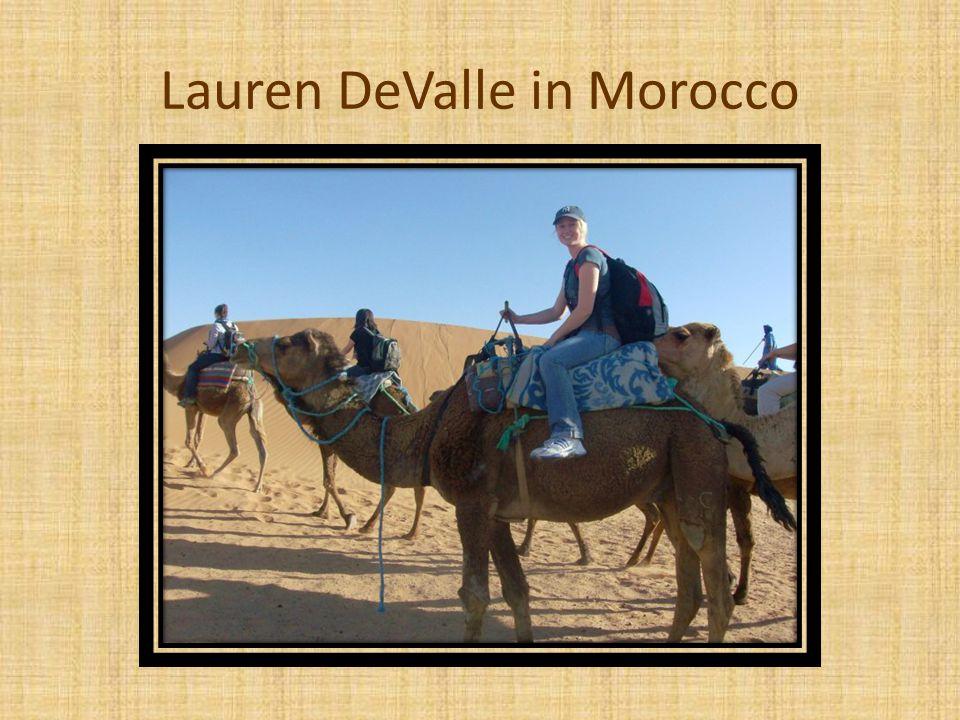 Lauren DeValle in Morocco