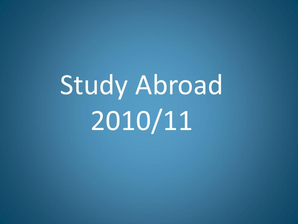 Study Abroad 2010/11
