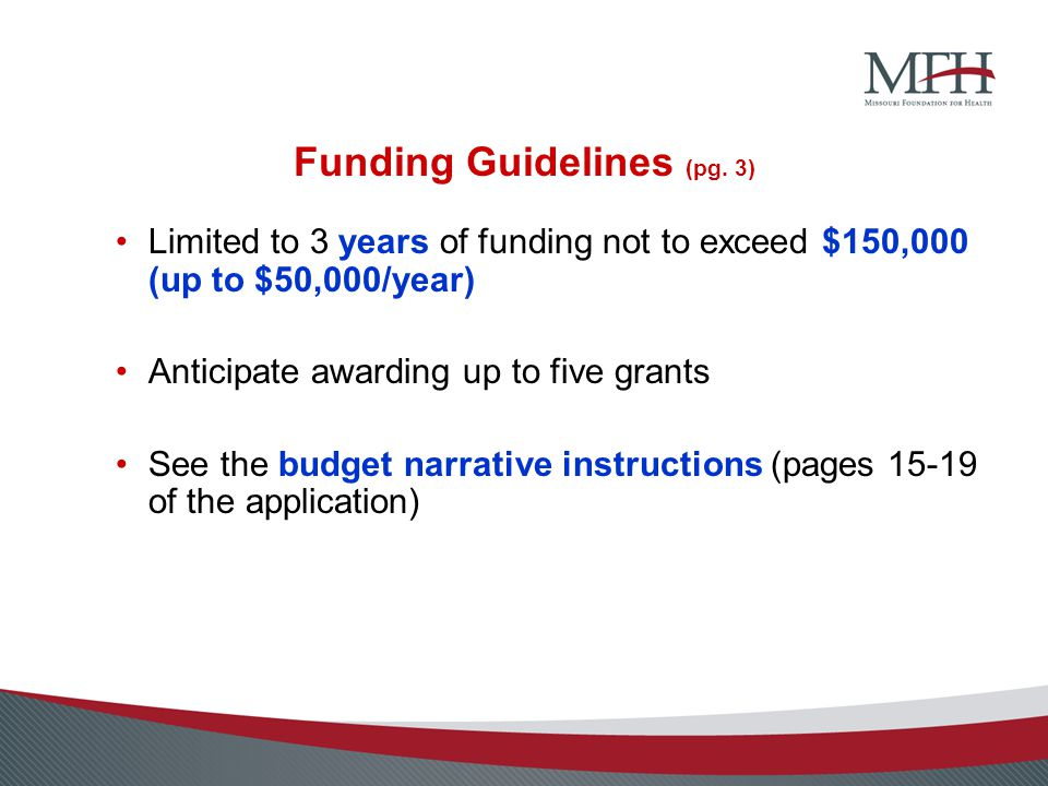 Funding Guidelines (pg.