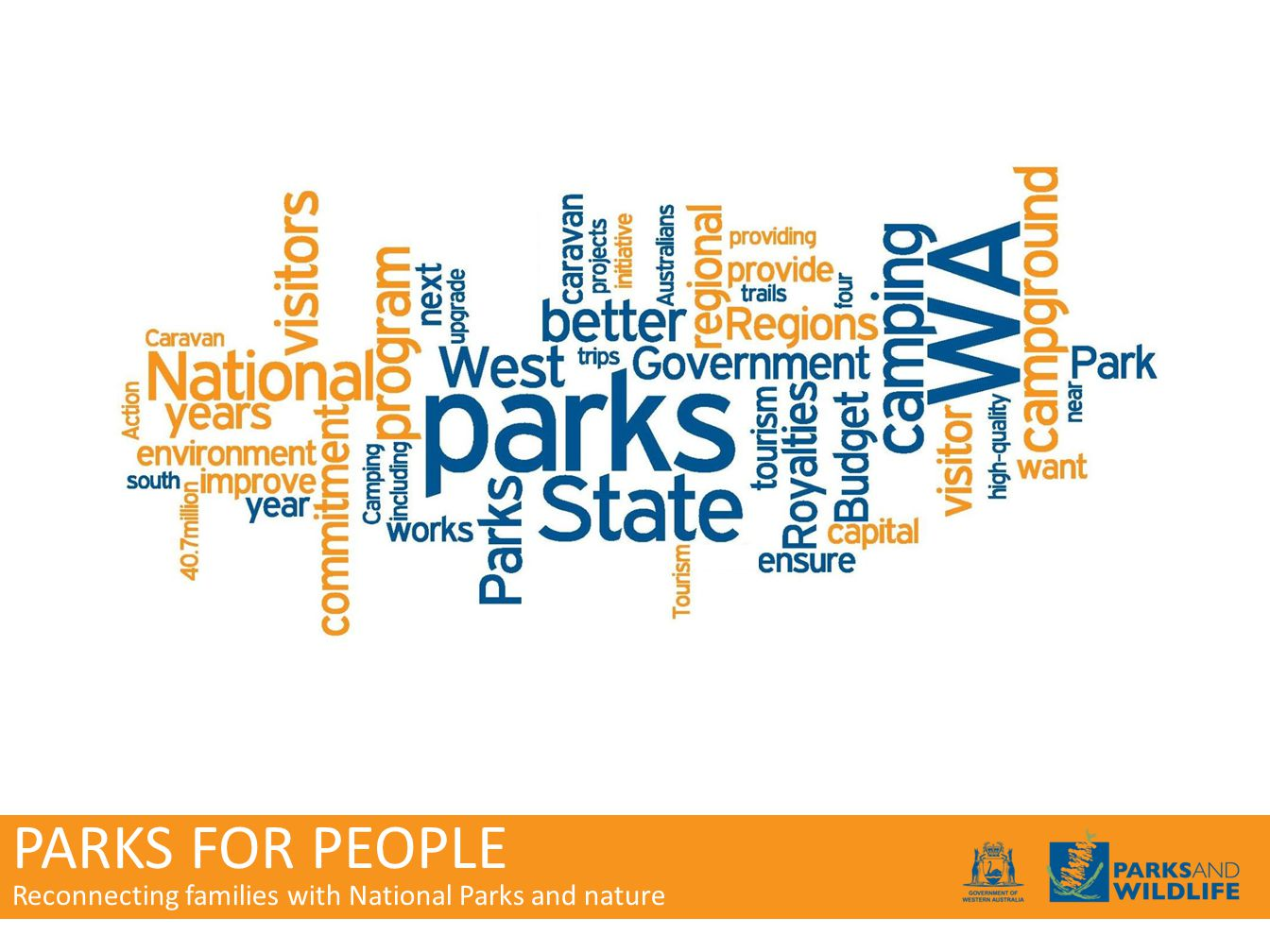 PARKS FOR PEOPLE Reconnecting families with National Parks and nature