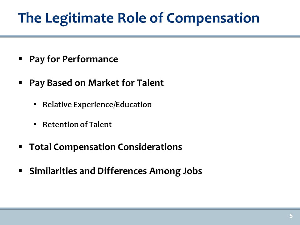 Polling Question #1 What Plays a Big Role in Compensation for your Organization.