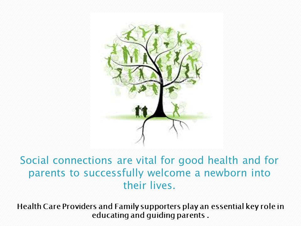 Health Care Providers and Family supporters play an essential key role in educating and guiding parents.